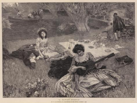 A River Picnic Giclee Print