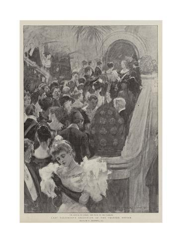 Lady Salisbury's Reception at the Foreign Office Giclee Print