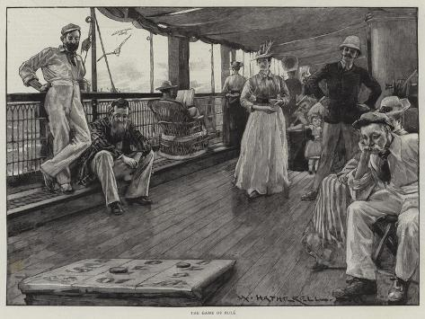 Life at Sea on an Australian Liner Giclee Print