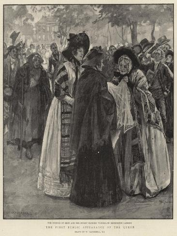 The First Public Appearance of the Queen Giclee Print