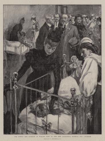 The Prince and Princess of Wales's Visit to the New Alexandra Hospital for Children Giclee Print