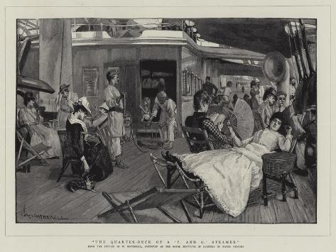 The Quarter-Deck of a 'P and O' Steamer Giclee Print