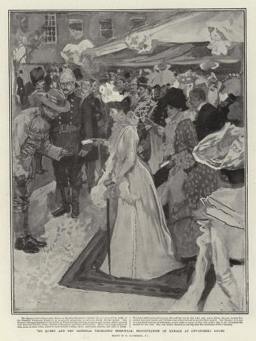 The Queen and the Imperial Yeomanry Hospitals, Presentation of Medals at Devonshire House Giclee Print