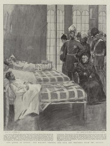 The Queen at Netley, Her Majesty Visiting the Sick and Wounded from the Soudan Giclee Print