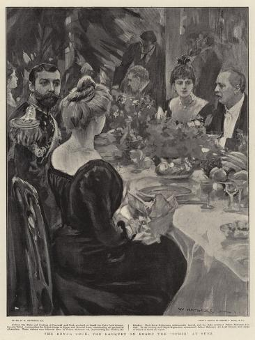 The Royal Tour, the Banquet on Board the Ophir at Suez Giclee Print