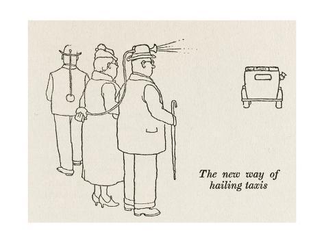 Hailing Taxis -Test Edit Giclee Print