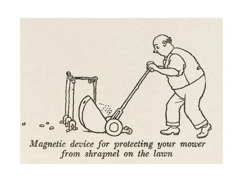 Lawn Mower Protector Giclee Print