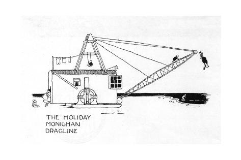 The Holiday Monighan Dragline Giclee Print