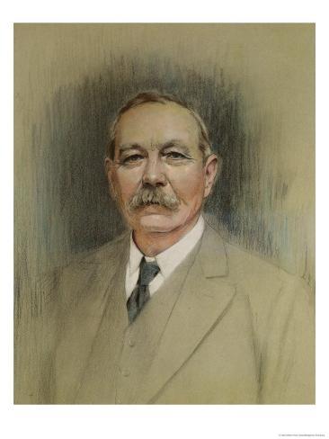 Portrait of Sir Arthur Conan Doyle, 20th Century Giclee Print