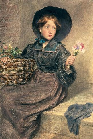 The Flower Girl, 1833 Giclee Print
