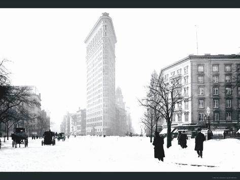 Flatiron Building After Snowstorm Photo