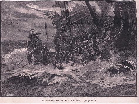 Shipwreck of Prince William Ad 1120 Giclee Print