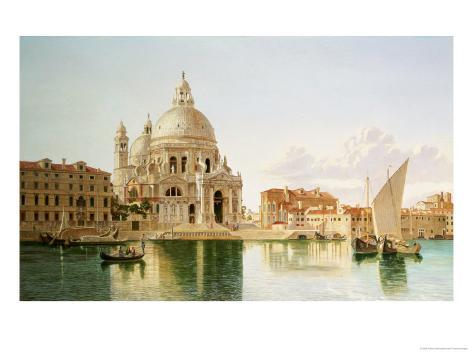 The Santa Maria Della Salute, Venice Giclee Print