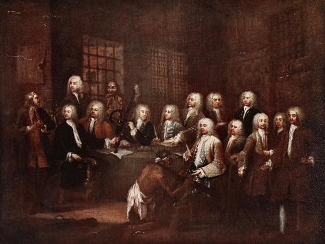 A Committee of the House of Commons at the Fleet Prison, 1729 Giclee Print
