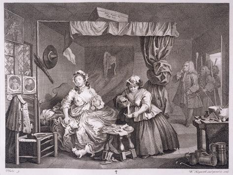 A Harlot's Progress, Plate Iii, from 'The Original and Genuine Works of William Hogarth' Giclee Print