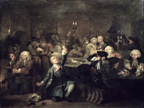 A Rake's Progress Vi: the Rake at a Gaming House, 1733 Lámina giclée