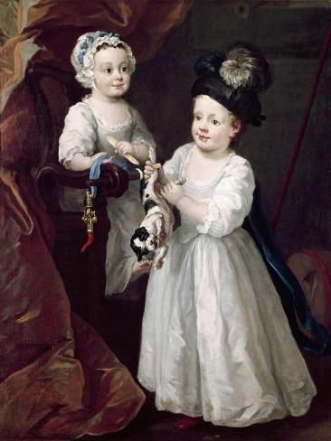 Lord Grey and Lady Mary West as Children Lámina giclée
