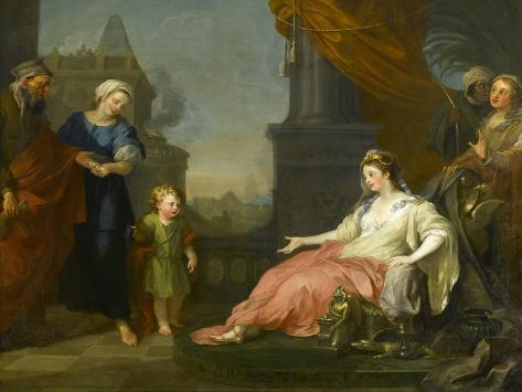 Moses Brought before Pharaoh's Daughter, 1746 Impressão giclée