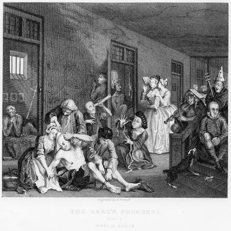 Scene in Bedlam, Plate Viii, from a Rake's Progress Lámina giclée
