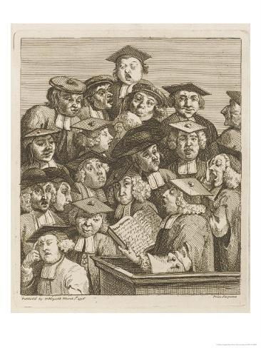 Scholars at a Lecture, Display Various Symptoms of Boredom Giclee Print