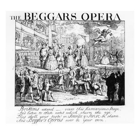 The Beggar's Opera Burlesqued, 1728 Giclee Print