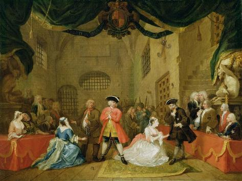 The Beggar's Opera, Scene Iii, Act Xi, 1729 Giclee Print