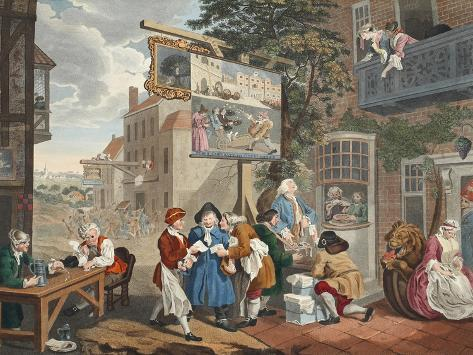 The Election II: Canvassing for Votes from 'Hogarth Restored Impressão giclée