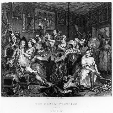 The Orgy, Plate Iii from 'A Rake's Progress' Lámina giclée