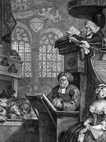 The Sleeping Congregation, 1736 Giclee Print