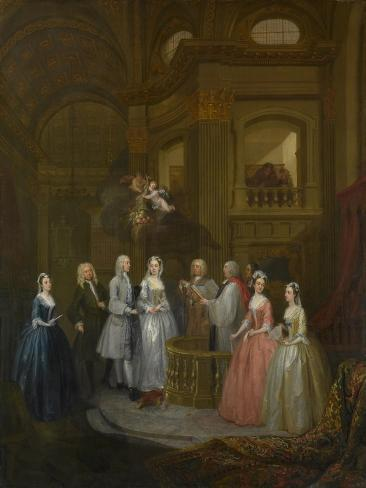 The Wedding of Stephen Beckingham and Mary Cox, 1729 Lámina giclée