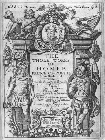 Titlepage to 'The Whole Works of Homer' Translated by George Chapman, Published in 1614-16 Giclee Print