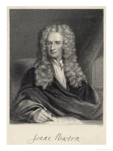 Sir Isaac Newton Mathematician Physicist Occultist Giclee Print