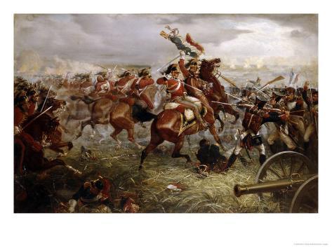 Capture of the Eagle, Waterloo, 1898 Lámina giclée