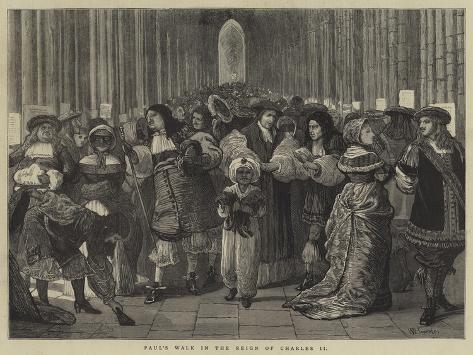 Paul's Walk in the Reign of Charles II Giclee Print