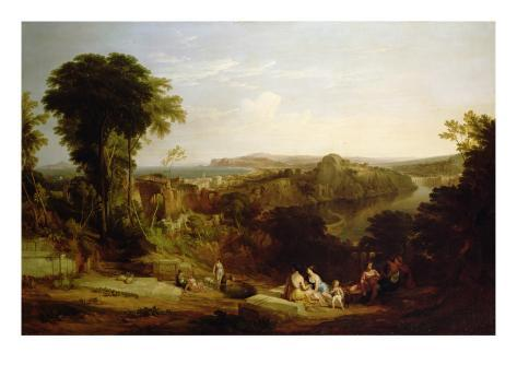 Villa of Lucullus at Misenum in the Bay of Naples Giclee Print