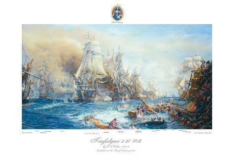 Battle of Trafalgar at 2.30pm Premium Giclee Print
