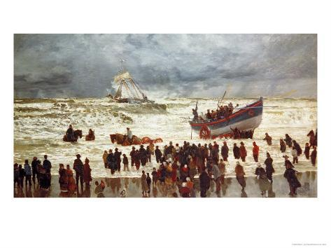 The Lifeboat, 1873 Giclee Print