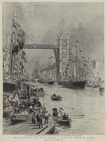 The Opening of the Tower Bridge by Hrh the Prince of Wales Giclee Print