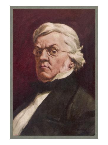 William Makepeace Thackeray English Novelist Lámina giclée