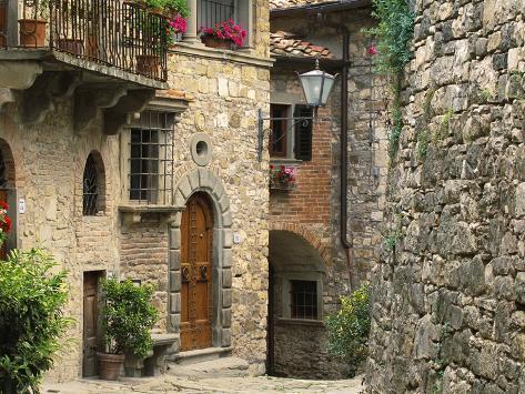 Tuscan Stone Houses Photographic Print