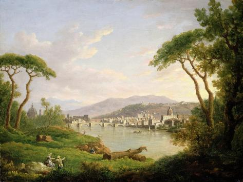Figure Seated on the Banks of the Arno Giclee Print