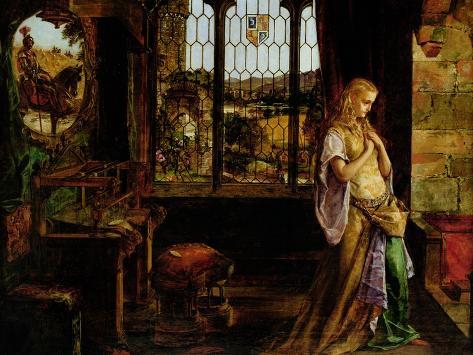 The Lady of Shalott, 1858 Lámina giclée