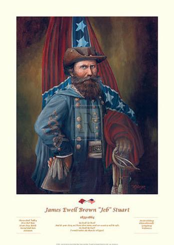 James Ewell Brown 'Jeb' Stuart Art Print