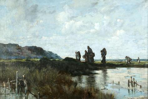Homewards, Conway Marsh, 1881 Giclee Print