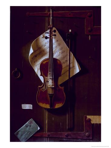 The Old Violin Giclee Print