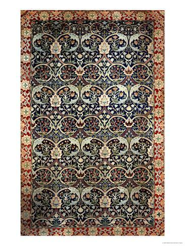 A Hand-Knotted Hammersmith Carpet, circa 1881-2 Giclee Print