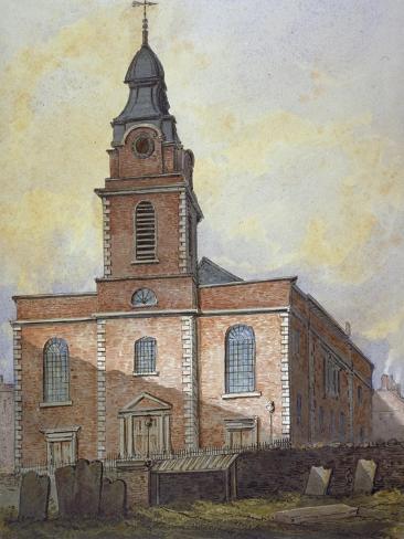 Church of St John-At-Wapping, London, C1815 Giclee Print