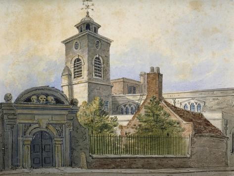 View of the Church of St Olave, Hart Street, from Seething Lane, City of London, 1815 Giclee Print