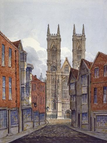 View of the West End of Westminster Abbey, Looking from Tothill Street, London, C1815 Giclee Print