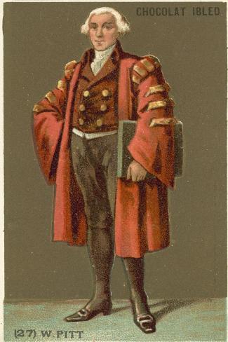 William Pitt the Elder (1708-1778), English Statesman Stampa giclée